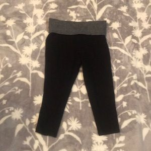 Mossimo Black Fold Over Cropped Leggings XS/ TP